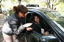 母と子の楽ラク運転講習会 指導風景
