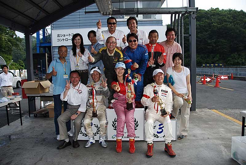 カートレース表彰式
