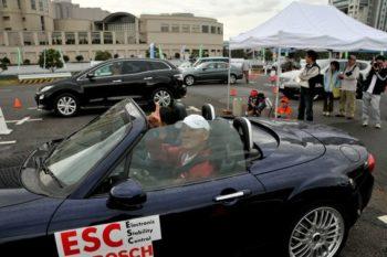 母と子の楽ラク運転講習会 2009年 ESC体験車