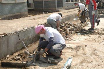 6・4瓦礫撤去作業