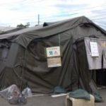 東日本大震災活動 テント