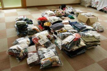 東日本大震災活動 衣類