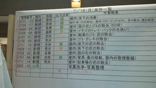 東日本大震災活動 予定ボード