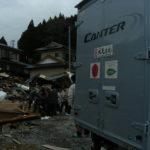 東日本大震災活動 三菱キャンターリア