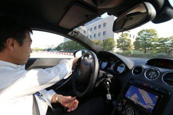 東京モーターショー・『プロの運転による同乗試乗会』同乗風景