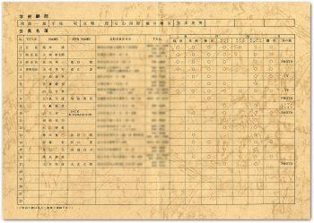 会員名簿 1969年版