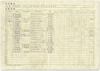 会員名簿 1970年版