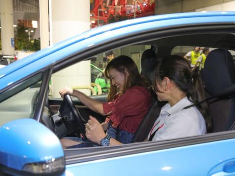 東京モーターフェス2018 女性向けビギナードライバー運転講習 指導風景